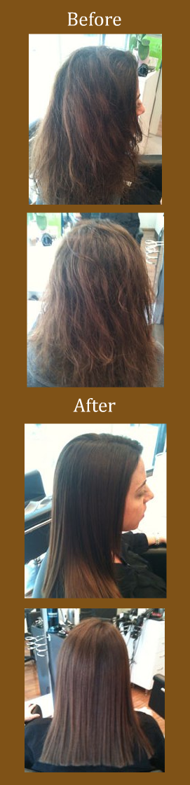 Brazilian Blowout Before & After Examples